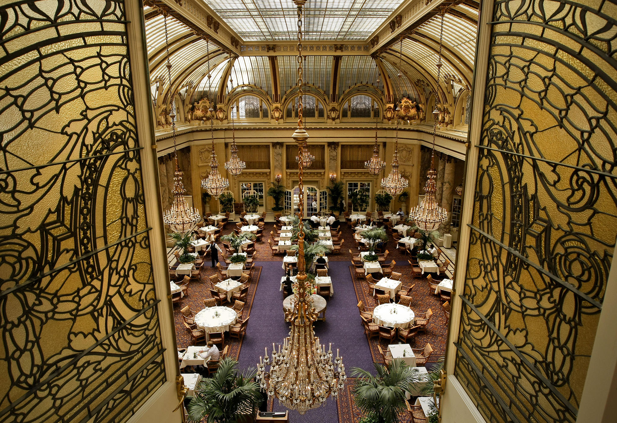 Beautiful inside view of the hotel.