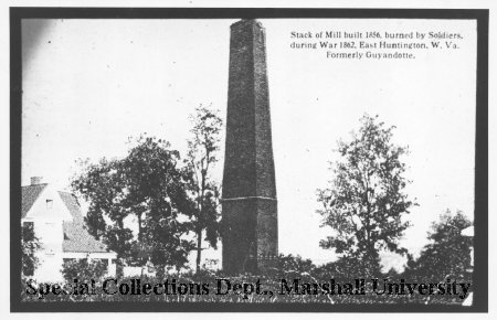 The Buffington Mill smokestack