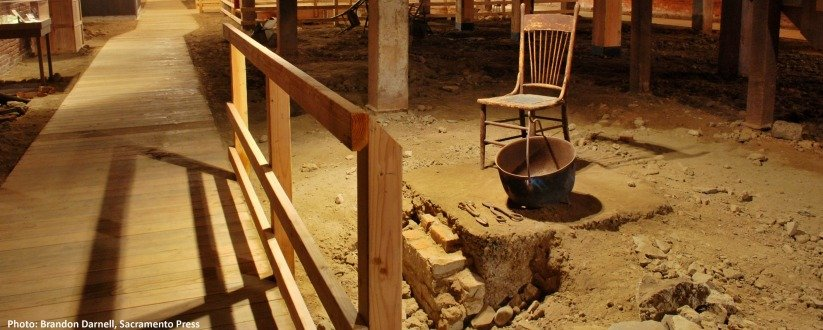 """The Museum offers Sacramento Underground tours, giving a glimpse into the disused remnants of the city's original ground level, before it was """"jacked up"""" to prevent further damage from flooding."""