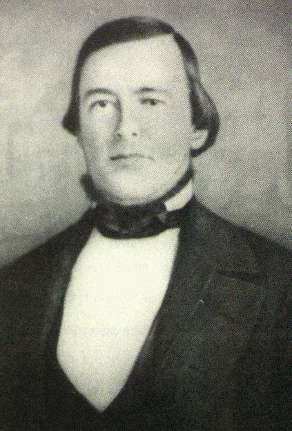 Hardin Bigelow, the first mayor of Sacramento. He served only for 1849-1850, before an infected gunshot wound killed him. One of the earliest champions for improving city infrastructure, he was wounded during the Squatters' Riots of 1850.