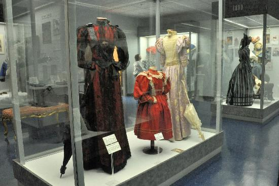 The museum also includes numerous dresses and items worn by wealthy Southerners from the antebellum and Victorian era.