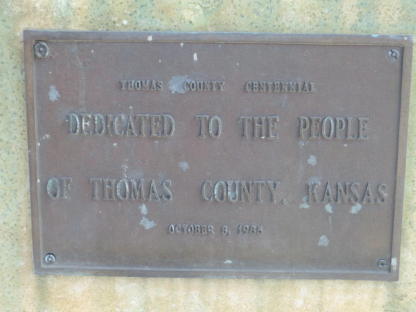 Thomas County centennial plaque