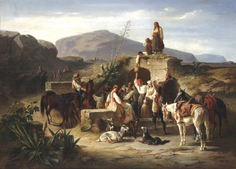 In addition to American art, European art from the sixteenth to nineteenth centuries also comprise the Crocker's core collections. This is a painting by German artist Eugen Adam.