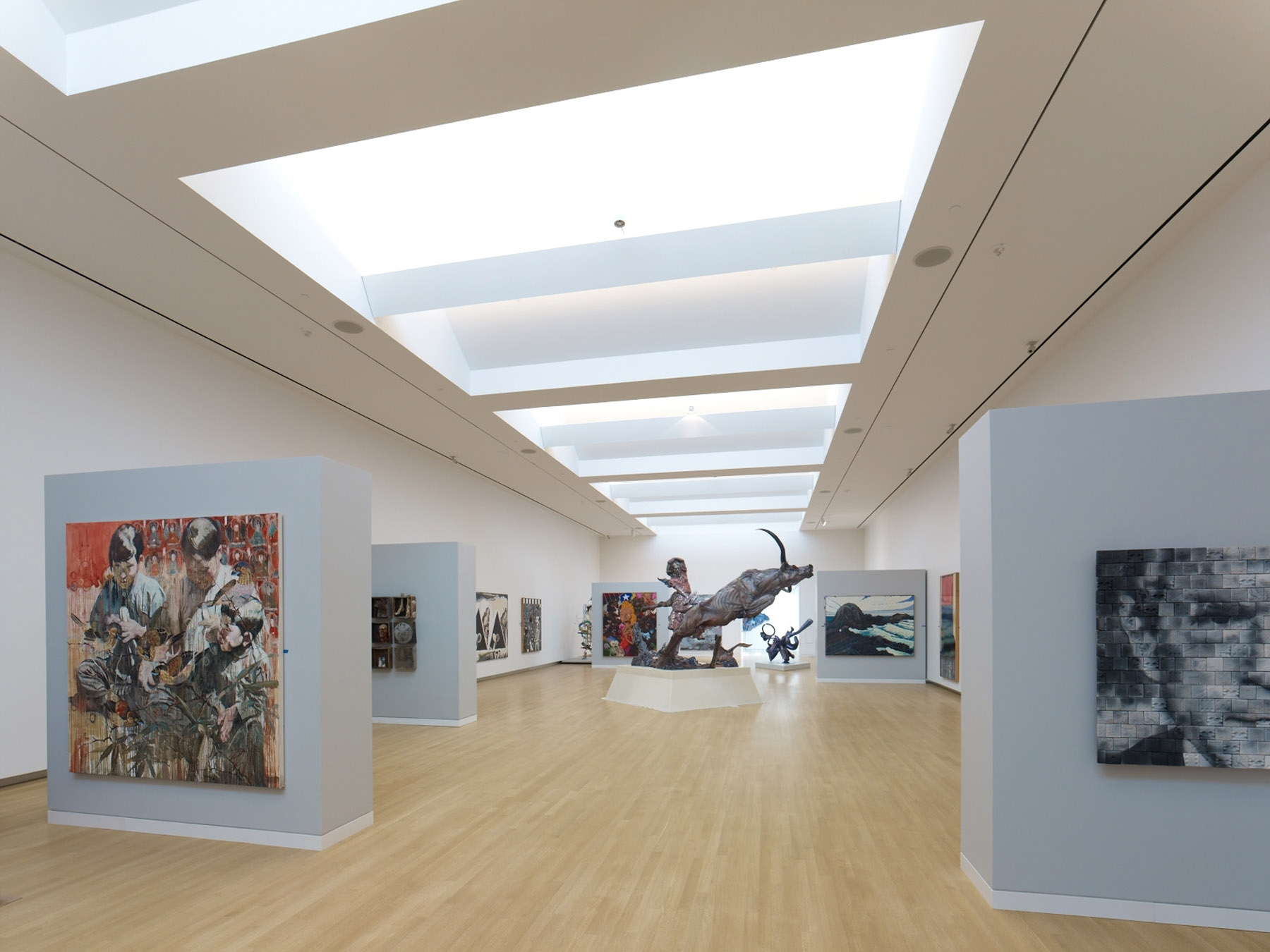 The Crocker includes a number of rotating galleries that exhibit works of American and European art, as well as Asian art and works by local artists.