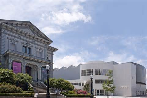 The historic Crocker mansion and modern Feel Family Pavilion comprise the main buildings of the Crocker Art Museum.