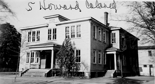 Old photograph picturing the Howard School.