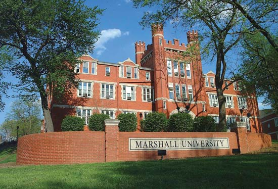 16th street view of Marshall University