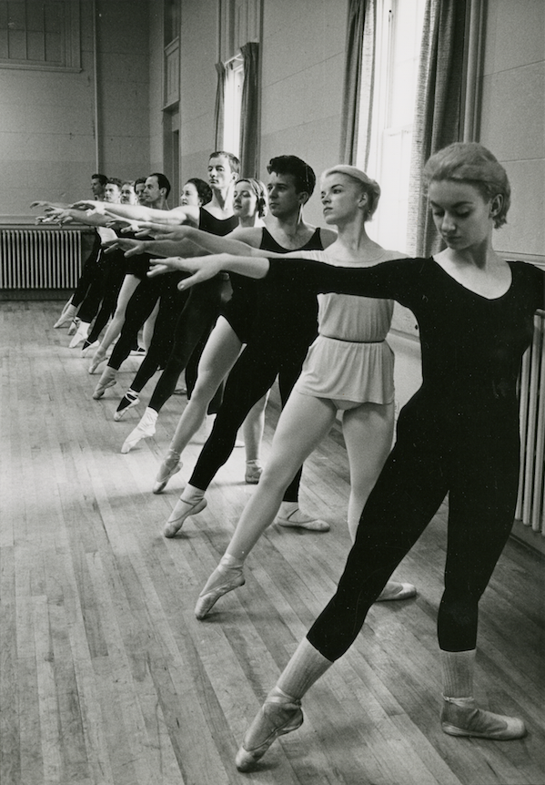 Students in class at Ballet West Academy