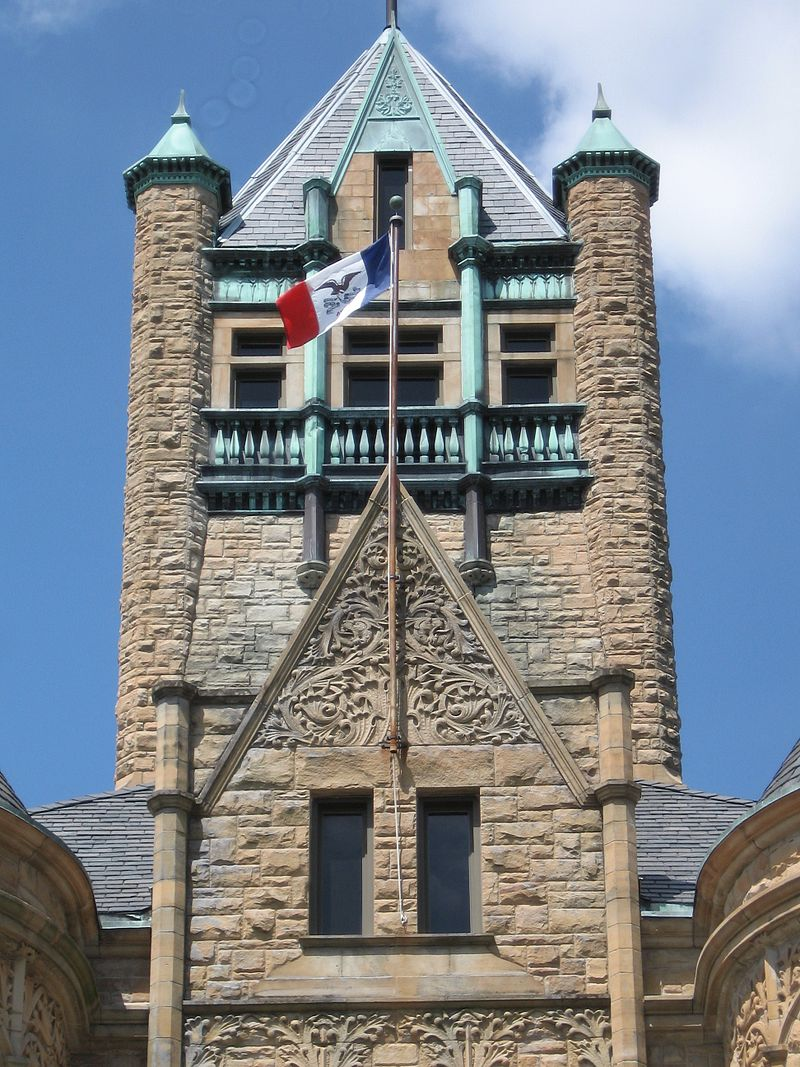 Closeup of the tower
