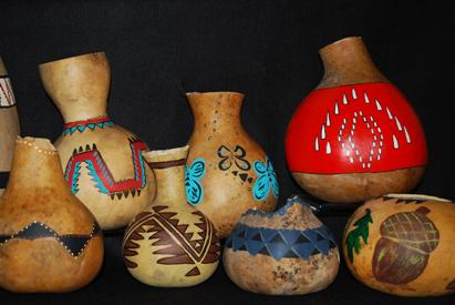 Indian-made gourds at the California State Indian Museum