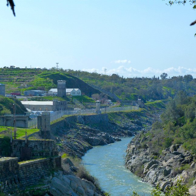 Are of old Folsom Dam near Folsom Prison