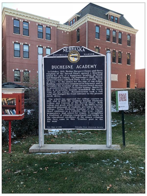 Duchesne Academy historical marker