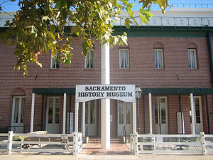 The current facade of the museum--a replica of the old City Hall and Water Works, one of the city's first permanent municipal structures.