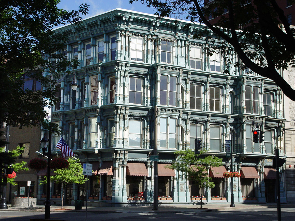 The Perry Block. Cast-Iron construction, designed by Isaac Gale Perry, built in 1876.