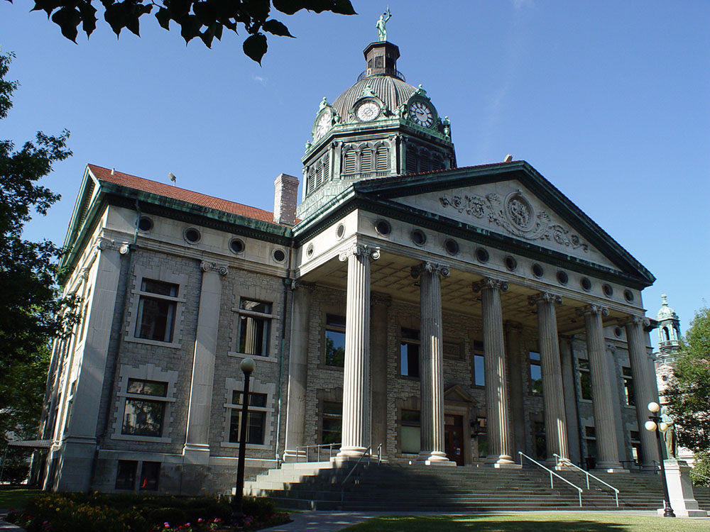 The current Broome County Courthouse was completed in 1897 and is the fifth building to hold the county's governmental offices.
