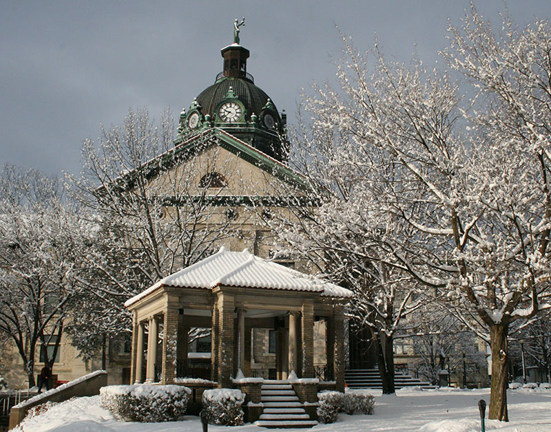 Courthouse in Winter.