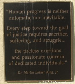 """Human progress is neither automatic nor inevitable. Every step toward the goal of justice requires sacrifice, suffering, and struggle...the tireless exertions and passionate concern of dedicated individuals."""