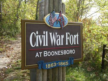(October 2008) Sign at site of Civil War Fort at Boonesboro