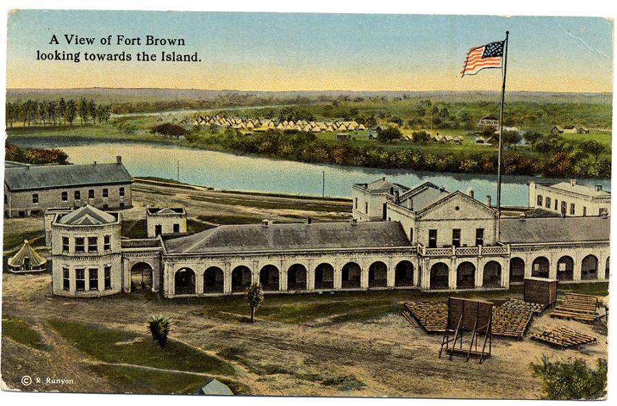Historic postcard of the fort in the early 1900s