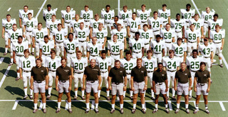 This is Marshall's Football Team in 1970 at the start of the season.