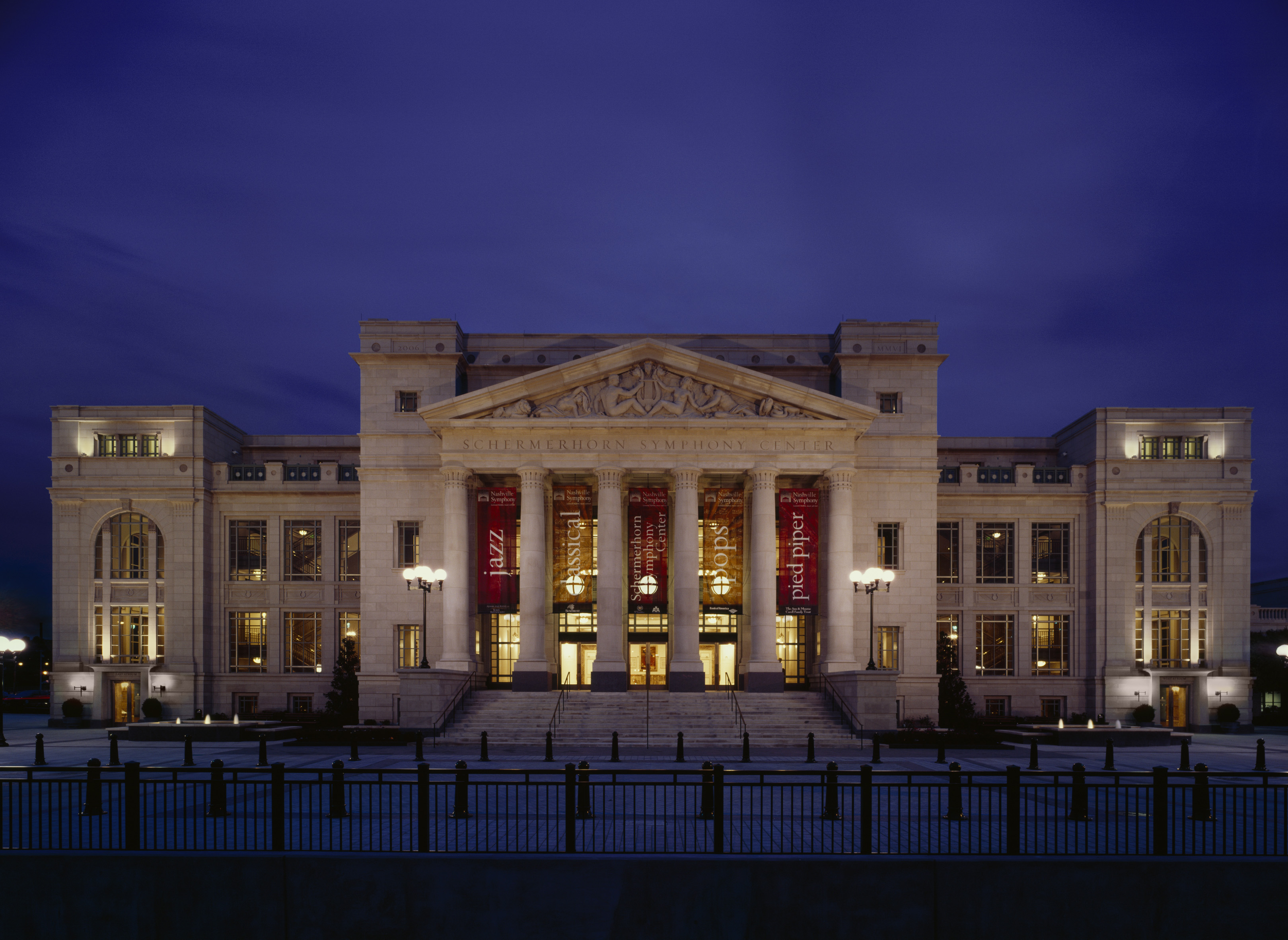 The Schermerhorn Symphony Center was built in 2006 and is home to one of the world's premier orchestras.