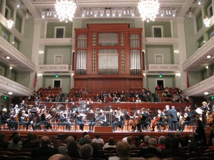 The interior of the Laura Turner Concert Hall.