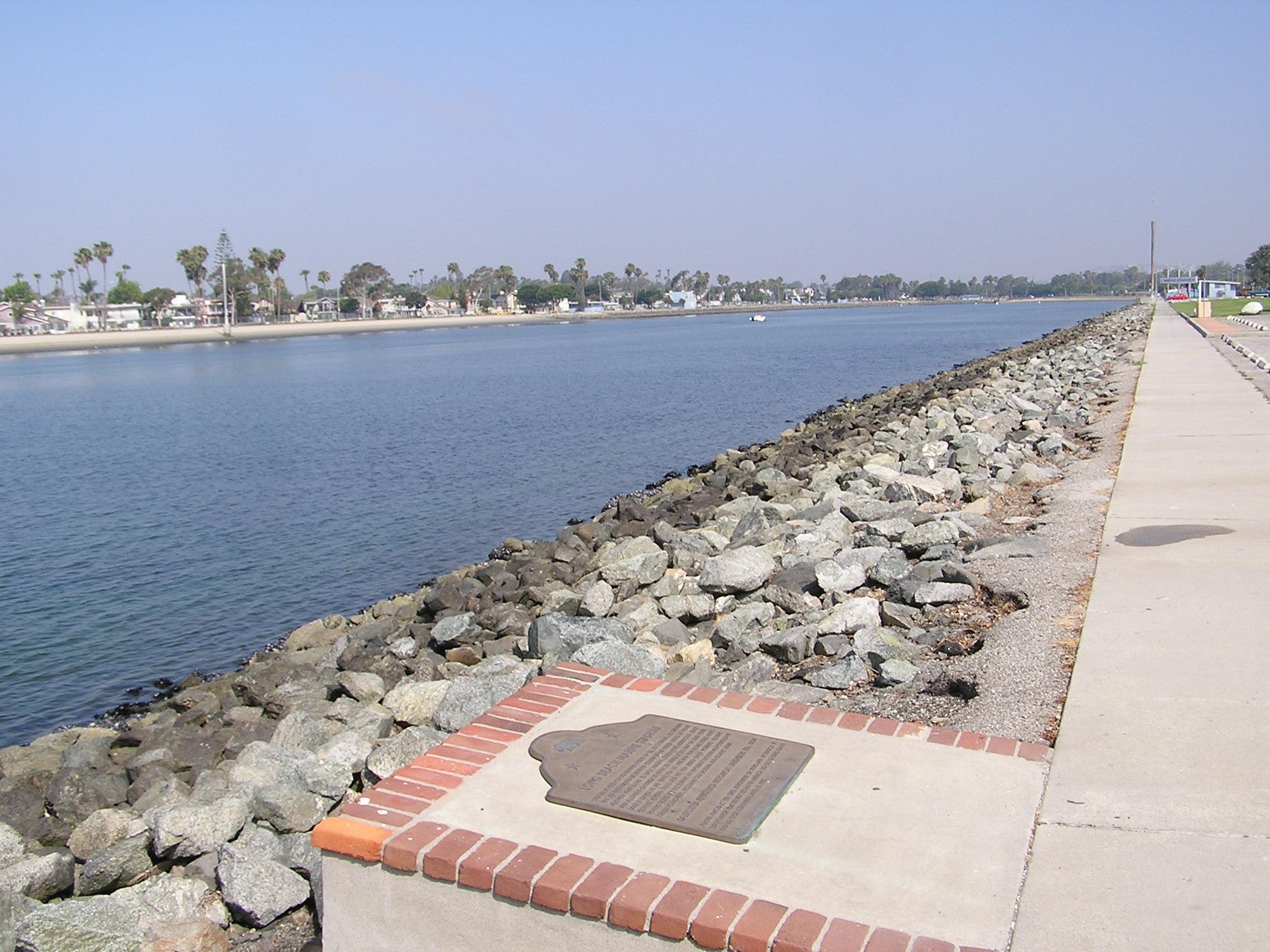 Long Beach Marine Stadium Marker & View