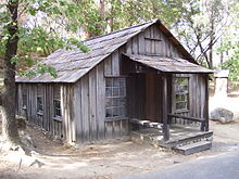 Reconstructed cabin that James Marshall lived in.