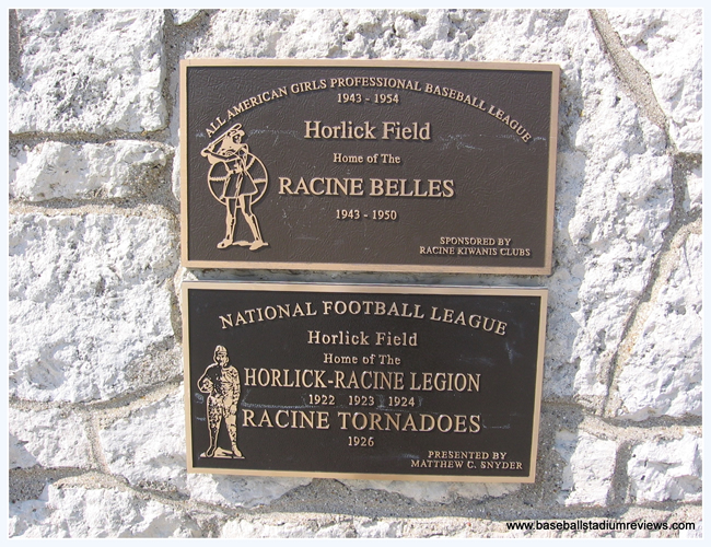 Plaque at Horlick Field (9).