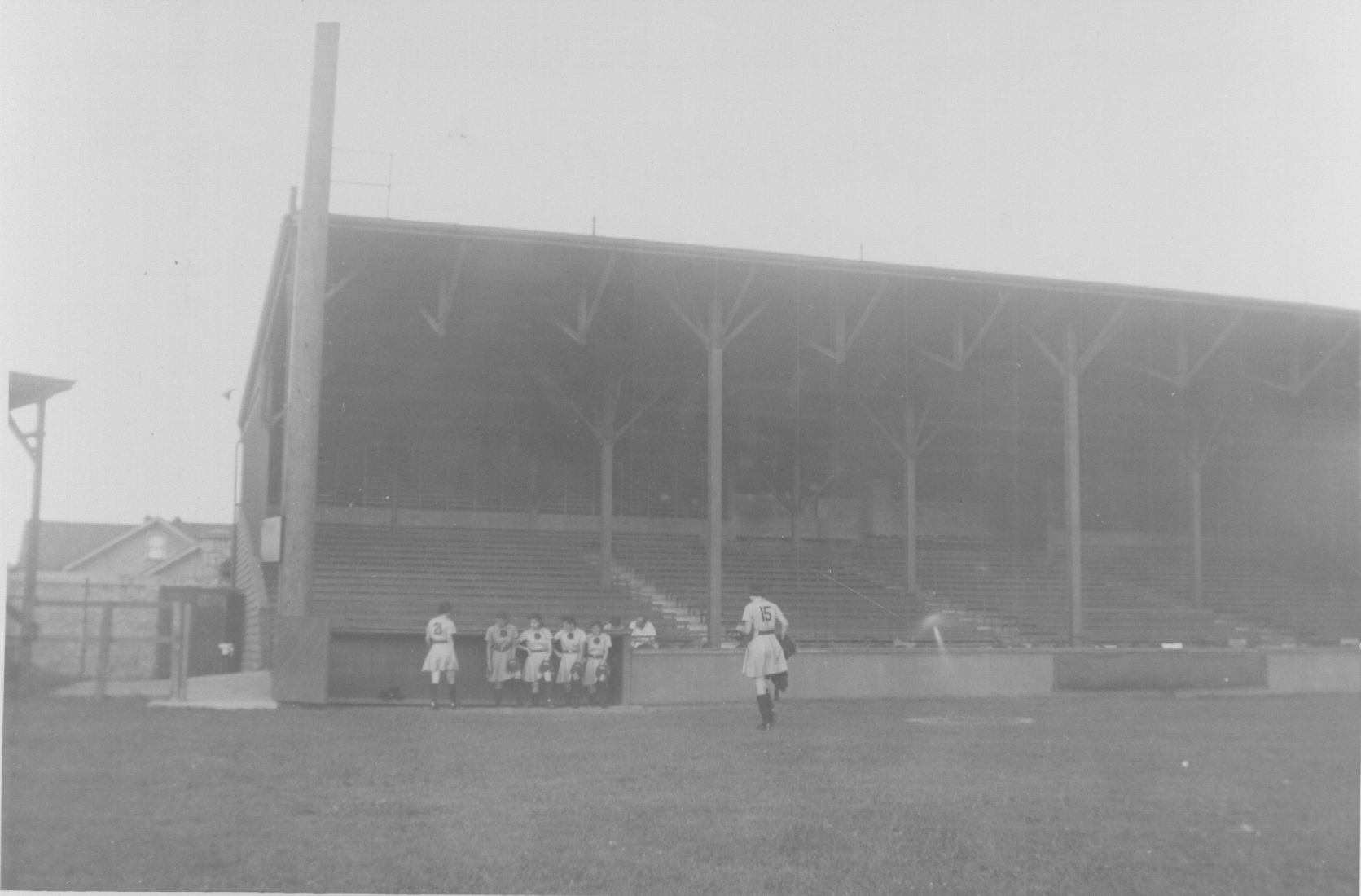 The dugout at Horlick Field (Courtesy of The History Museum, South Bend)
