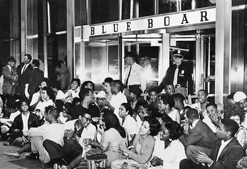 "Sit-in at the ""Blue Boar,"" 1961."
