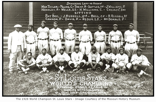 The 1928 World Champion St. Louis Stars- Image Courtesy of the Missouri History Museum