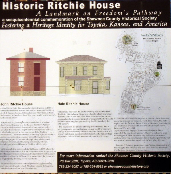 Flyer with more information on the Ritchie Homestead