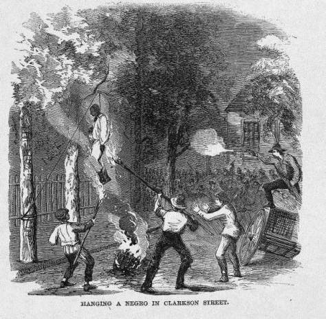 Drawing of the lynching of William Jones