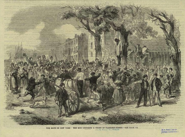 Another drawing of the Jones lynching