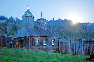 The Chapel was originally built in the mid-1820s. It was the first Russian Orthodox structure in North America outside of Alaska, although Ross had no resident priest.