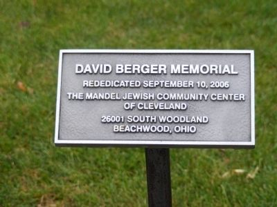 David Berger National Memorial Marker