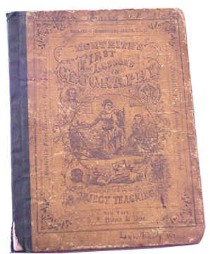 Geography Book from 1867 located at the Legacy Museum