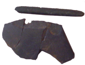 Slate pieces uncovered in the slave quarters at Thomas Jefferson's Poplar Forest which suggest that some of the enslaved could read and write, which are now held at the Legacy Museum.