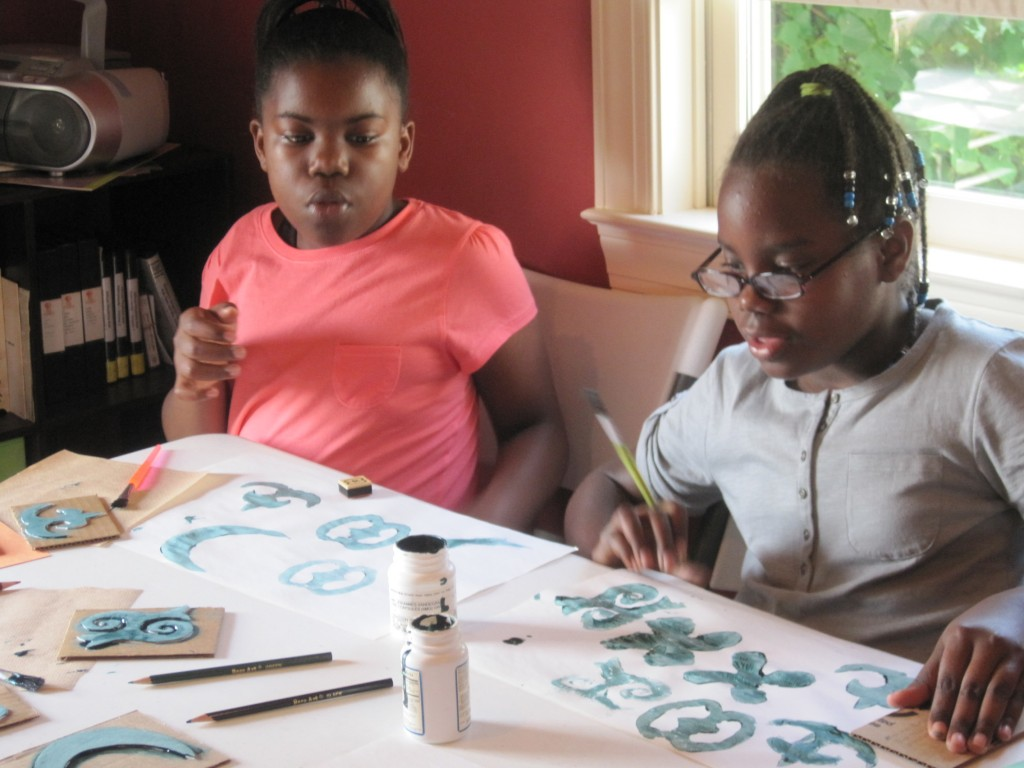 Children engage in hands on activities that are aimed at engaging the community's youth in educational activities that explore African American history at the Legacy Museum's adjacent activity center.