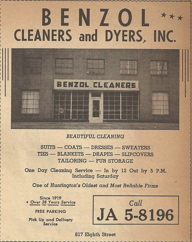 Ad for Benzol Cleaners, circa 1955