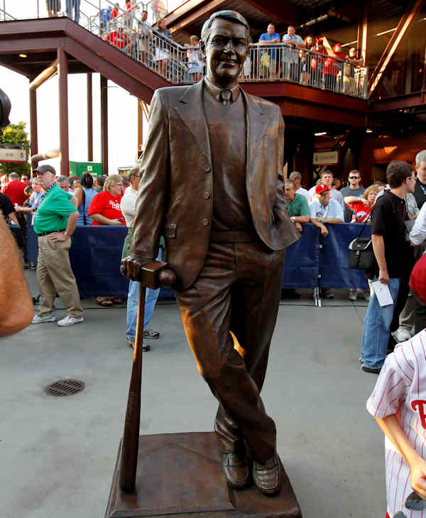The Harry Kalas Statue inside Citizens Bank Park