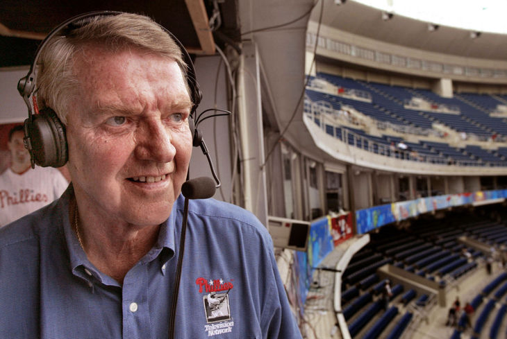 Harry Kalas, Philadelphia Phillies broadcaster for 38 years.