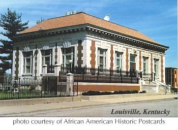 Western Branch Library, formerly the Western Colored Branch Library, home of the African American Archives (image from African American Postcards)