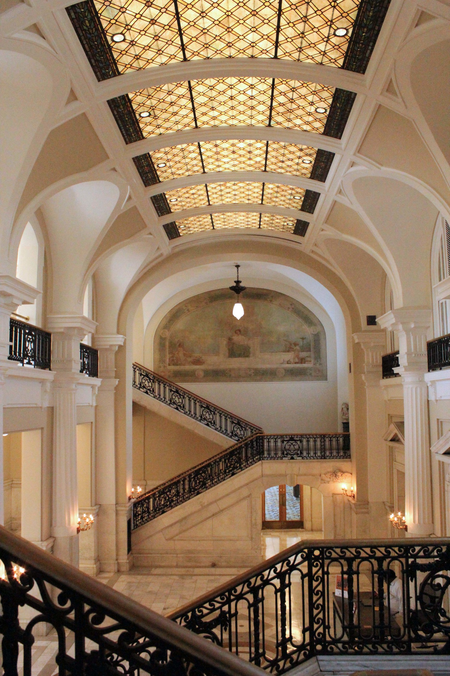 Another view of the lobby, previously the Delivery Room (image from the LFPL Foundation)