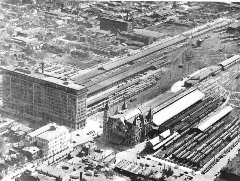 Aerial shot of the Union Station complex c.1923 (image from the National Register of Historic Places)
