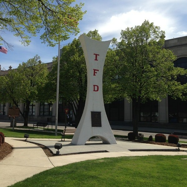 This memorial was dedicated in 1963 and is located directly across from the Toledo Fire Department headquarters.