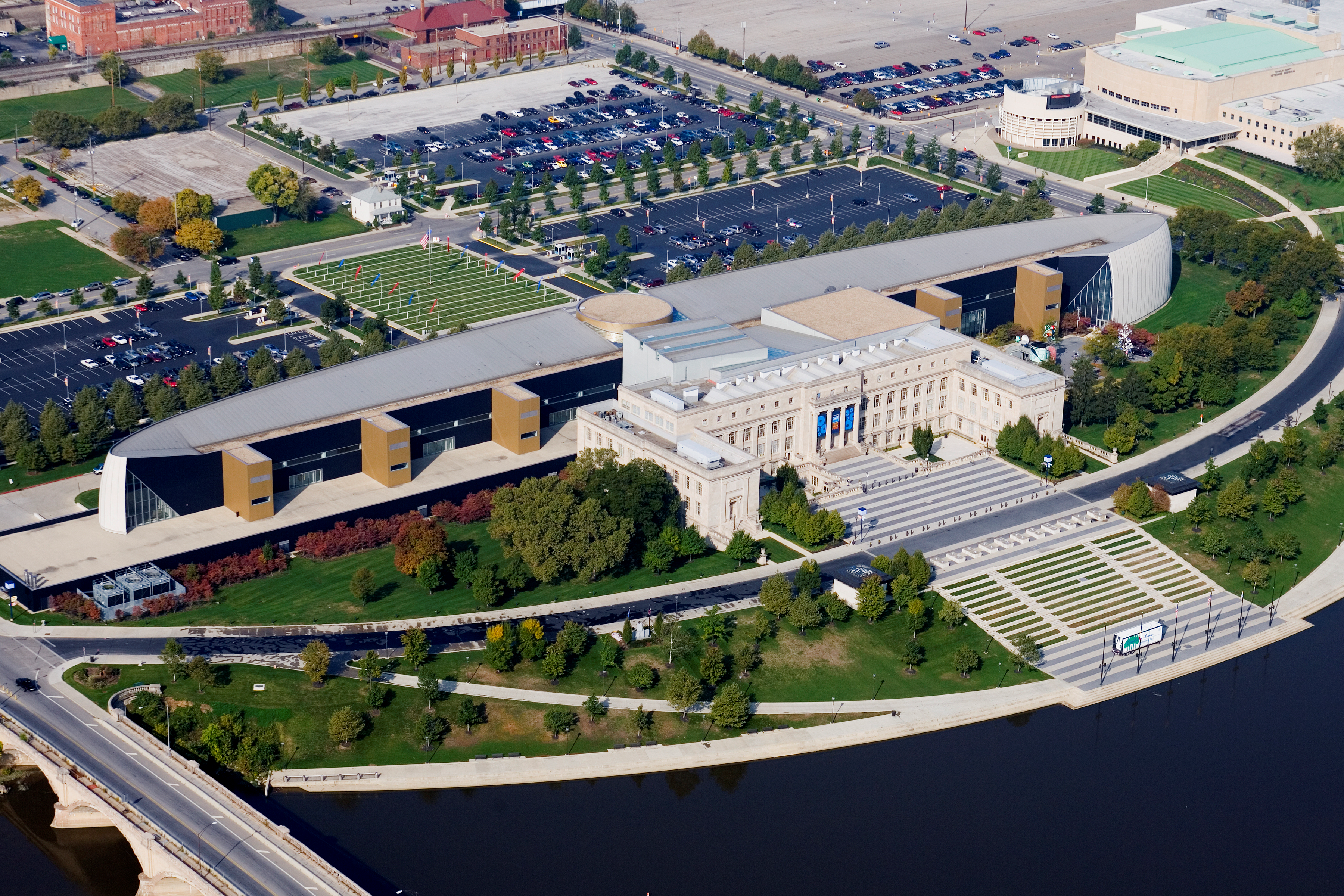 Aerial view of COSI
