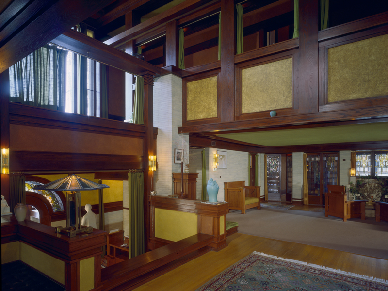 Inside of the house.