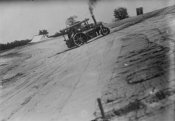 The Indianapolis Motor Speedway under construction. Courtesy of the Library of Congress